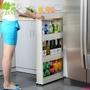 訂單滿199出貨T3149 澤熙創意細縫置物架可移動廚房落地冰箱側邊三層雜物掛架