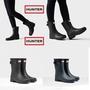 正品hunter防滑雨鞋 獵人雨靴女中筒refined款啞光天然橡膠中筒雨靴