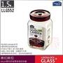 白鐵本部㊣LOCK&LOCK『樂扣shum單向排氣閥玻璃密封罐方罐1.5L』保鮮罐收納罐,LLG552