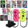 Nintendo Switch 超級瑪利歐兄弟U/派對/路易吉洋樓3+JOY-CON 電光黃粉紅+充電座【台中星光電玩】