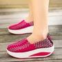 新款編織鞋女小白鞋厚底跑步旅游鞋透氣搖搖鞋靴子一腳蹬『小宅妮時尚』