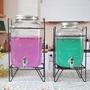 【熱賣】玻璃果汁罐帶龍頭玻璃瓶家用飲水桶果汁瓶檸檬酵素玻璃瓶#happy  gou