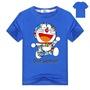 【現貨】機器貓哆啦a夢短袖T恤叮噹貓學生韓版男女童寬鬆衣服兒童Doraemon純棉夏裝衣服