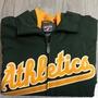 {全新}MLB絕版美國職棒大聯盟運動家球員版外套