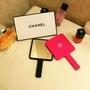 Chanel 專櫃贈品 隨身鏡 迷你手柄鏡 高檔便攜式化妝鏡 禮盒