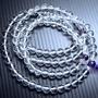 『晶鑽水晶』天然白水晶手鍊~念珠108顆佛珠 質感超優 還可纏在手腕上配戴唷 禮物佳選