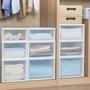 日本IRIS愛麗思抽屜式衣柜收納箱透明塑料收納盒衣服整理箱收納柜
