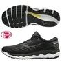 【美津濃MIZUNO】J1GC191151(黑)WAVE SKY 3 SW 超寬楦一般型男款慢跑鞋