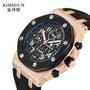 KIMSDUN 金詩頓1222A時尚男士手錶爆款矽膠三眼防水全自動機械表批發