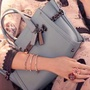 BN AUTHENTIC Coach swagger 27 baby blue Selena Gomez hand bag