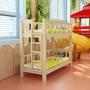 幼兒園上下床雙層床高低床學生上下鋪床午托床實木兒童小床午睡床歐尼