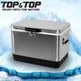 韓國TOP&TOP ICE COOLER 不鏽鋼行動冰箱29L 冰桶 保溫箱 銀色