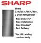 SHARP 2 DOOR REFRIGERATOR (SJ-RX30E-SL/ SJ-RX34E-SL/ SJ-RX38E-SL/ SJ-RX42E-SL)- MULTI MODEL