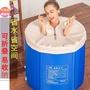 ☼☼☼加厚折疊沐浴桶家用洗澡桶成人大號泡澡桶保溫浴桶兒童洗澡桶浴盆