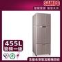 【SAMPO 聲寶】★好禮五選一★455公升一級能效超值變頻系列變頻三門冰箱(SR-B46DV-R6)