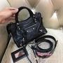 二手正品奢侈品女Balenciaga巴黎世家改黑色mini city 手提機車包
