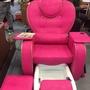 最新時尚款桃紅色鱷魚皮伸縮式spa泡腳椅 (全套)