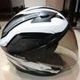 (正品 福昇購入)ZEUS ZS ZS-611E TT10 白銀 白黑 安全帽 3/4 57-59cm  L 二手極新