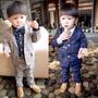 (孩子們)] fs04gm [男童兒童適應下來集兒童燕尾服下來檢查集的西裝下設置的男孩正式的西裝韓國孩子衣服正式的西裝兒童 surtsgrea 岩 fs3gm02P20Sep14 BAOBAO