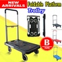 【 FOLDABLE PLATFORM TROLLEY 】Household /Heavy Duty /Compact Foldable/ Portable Platform Trolley