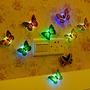 丹丹推薦 【現貨】5個起售 七彩LED 發光蝴蝶小夜燈可粘 貼模擬蝴蝶發光夜市 地攤兒童