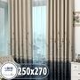 [贈三種配件] 遮光窗簾 寬250x高270【小銅板】多款可選 落地窗用 布料細緻 遮陽防風擋紫外線支援多種安裝方式