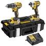 得偉DEWALT 正品 887+996全新雙機組 充電式電鑽及鋰電池衝擊起子 大(可選擇工具箱和工具袋)