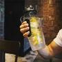 【Tritan】防摔水杯 水果柱水杯塑膠隨手杯 1000ML檸檬杯環保太空杯
