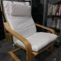 IKEA POANG 扶手椅,樺木,白色椅墊。限自取