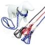 Kiwi狗狗寵物專用反光警示拉繩+胸背帶組(1條)~特殊反光材質。多一層保護~牽繩狗鍊組/狗牽繩帶拉繩