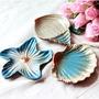新品熱銷~【現貨】人氣陶瓷擺件海螺海貝海星肥皂盒小盤子碟子時尚地中海果盤 居家裝飾 北歐 復古 擺件