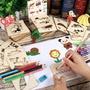 兒童玩具 學畫畫工具 寶寶塗鴉塗色填色 男女孩繪畫模板套裝  兒童玩具