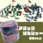 美國進口TOY STORY U.S ATTACK 玩具總動員 綠兵人偶 內含場景 桶裝人偶公仔