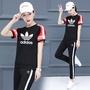 Adidas 愛迪達 運動女套裝 運動套裝 三葉草女款長套  休閒套裝 愛迪達長褲 愛迪達短袖上衣 套裝