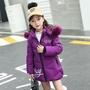 女童棉衣2019新款韓版洋氣冬裝小童中長款加厚棉襖防寒服外套兒童
