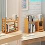 【熱銷中】實木書桌桌面桌上置物架化妝品廚房調味調料多功能雙層整理收納架