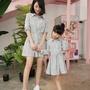 預購❤韓版字母襯衫洋裝 全家裝 親子裝 母女裝