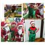 Merry Christmas卍圣誕節兒童服裝男女綠色圣誕精靈服親子表演cosplay小丑化裝演出