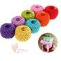 現貨手工編織繩彩色編織繩子DIY裝潢繩彩色粗麻繩彩色捆綁繩照片牆繩子彩色編織麻繩彩色麻繩