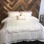 歐美80支天絲素色床包組 床單被套枕套 ikea hola 寬庭 專櫃 白色 灰色 刺繡 典雅 簡約 時尚