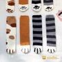 女生襪子 中筒襪子 地板襪 毛襪 加厚中筒襪 保暖珊瑚絨堆堆襪女秋冬新款韓版百搭可愛貓爪加厚學生中筒襪