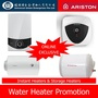 Ariston Water Heater | Instant Heater - AURES COMFORT/SMART SM33 / SMC33 | Storage Heater 15L 25L 30L 40L - AN15R AN30R - PRO R SLIM 30 / 40 - INOX AA 25L - LUX15 LUX30 MADE IN ITALY