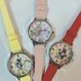 特價~日本迪士尼長髮公主白雪公主貝兒質感皮錶帶手錶