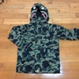 A bathing ape bape snowboard jacket 綠迷彩 雪衣 鯊魚 shark
