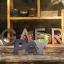 #爆款實心字金屬立體字個性創意招牌字不銹鋼字廣告字定制門頭廣告牌#橘子咖啡貓