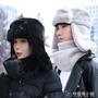 帽子女士冬季雷鋒帽騎車護耳帽東北戶外防寒防風保暖棉帽加厚圍脖 安妮塔小舖