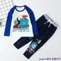 新款高質量獨家出售春秋季男孩托馬斯衣服長褲T恤童裝火車頭寶寶服飾2件套卡通湯瑪士