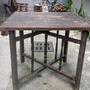 早期檜木剪腳四方桌
