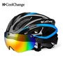 CoolChange Bicycle Helmet EPS Insect Net Road MTB Bike Windproof Lenses Integrally-molded Helmet Cyc