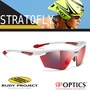 Rudy Project STRATOFLY 抗紫外線鍍銀運動眼鏡_亮白色框+紅色鍍銀片